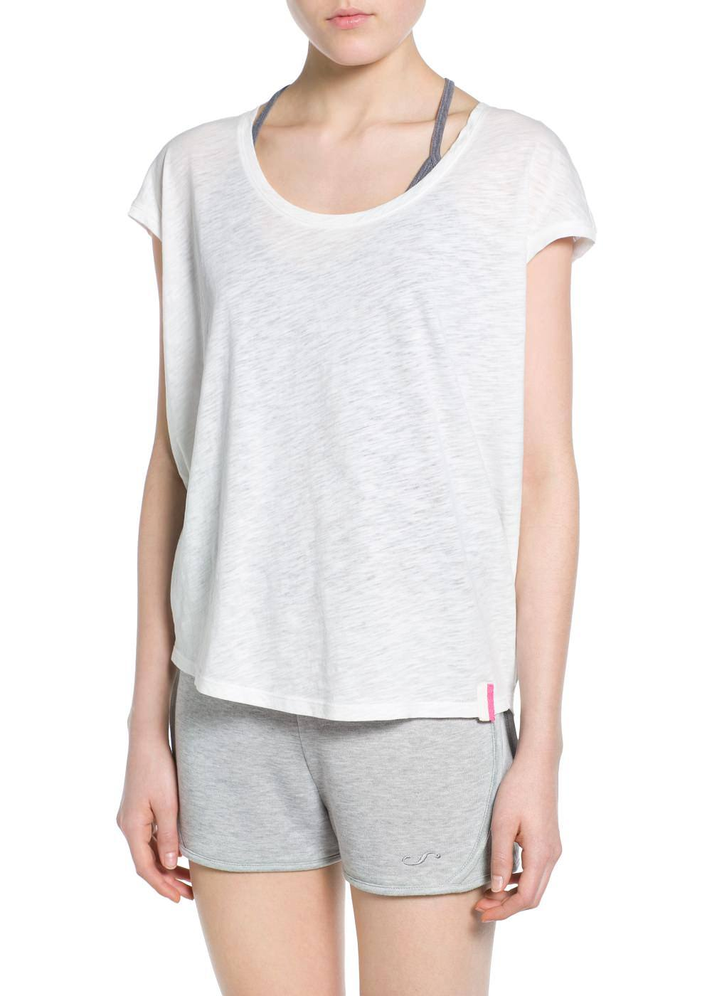 Yoga - loose-fit comfort t-shirt | MANGO