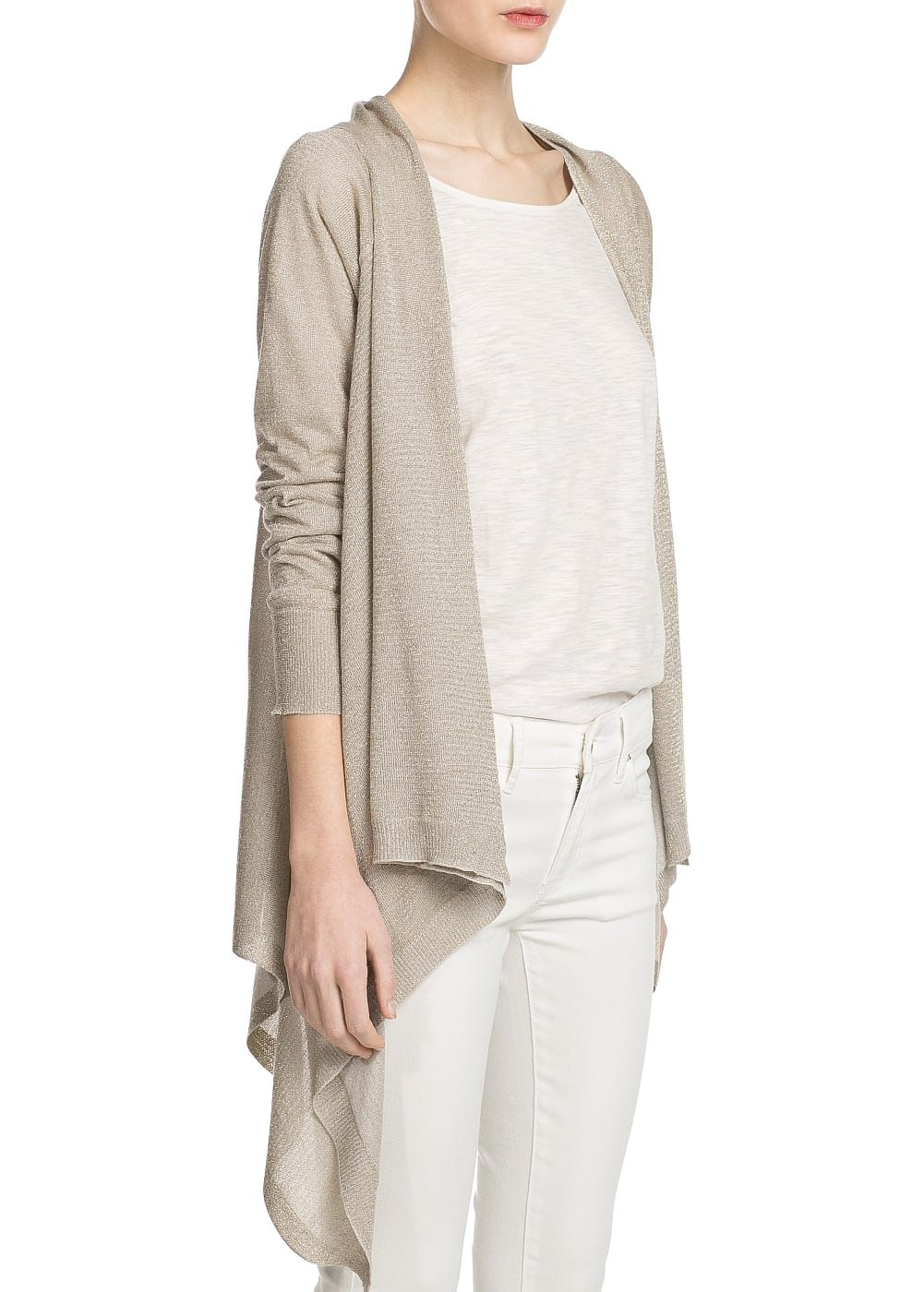 Metallic detail cardigan | MANGO