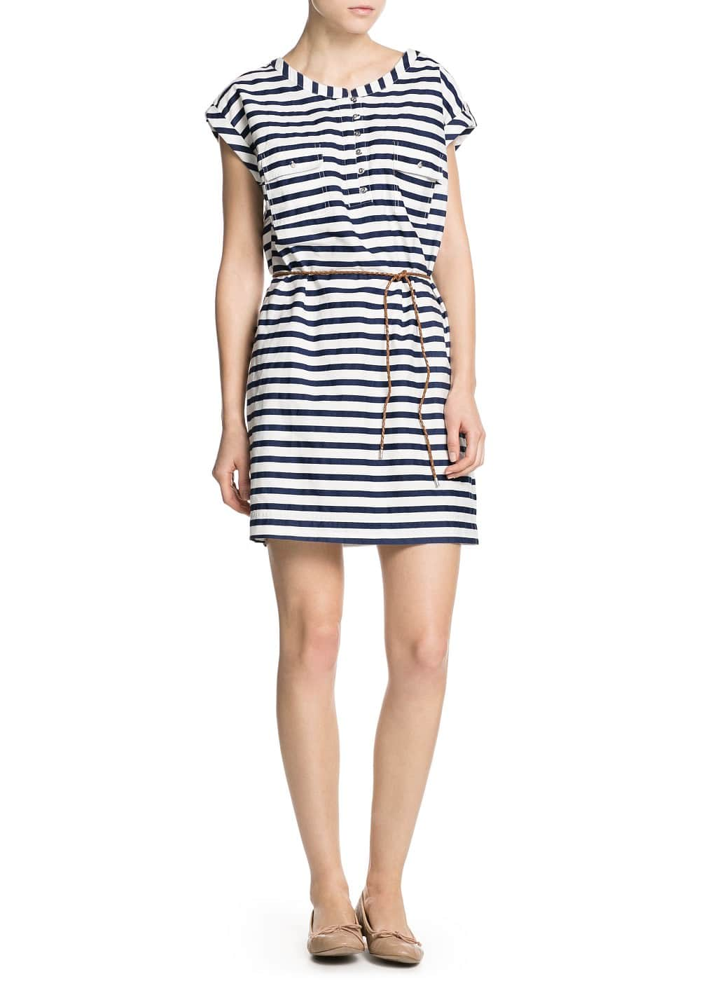 Striped shirt dress | MANGO MAN