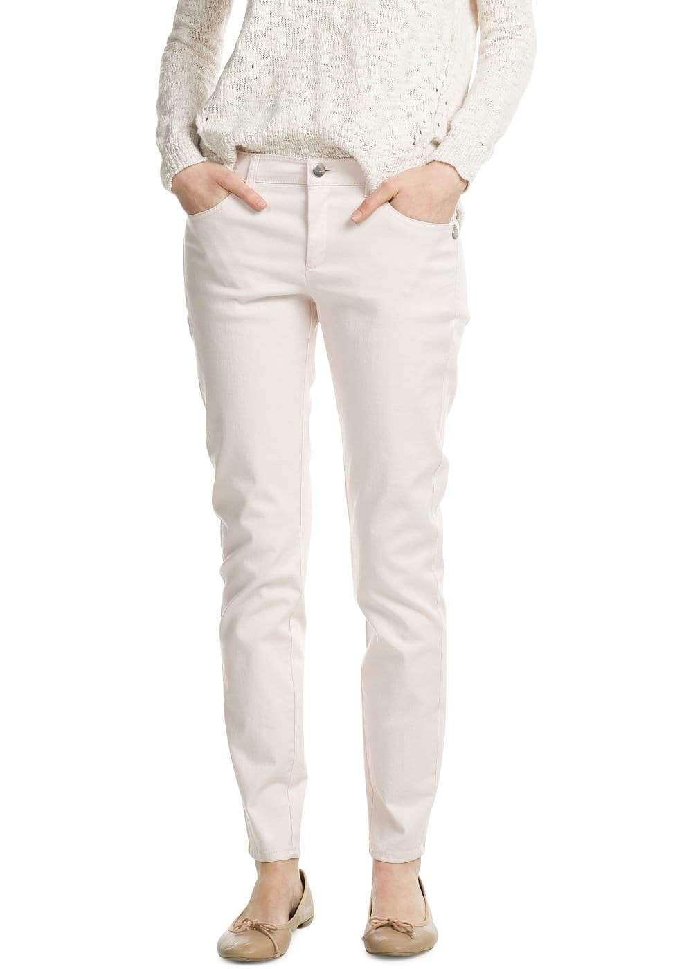 Slim-fit cotton trousers | VIOLETA BY MANGO