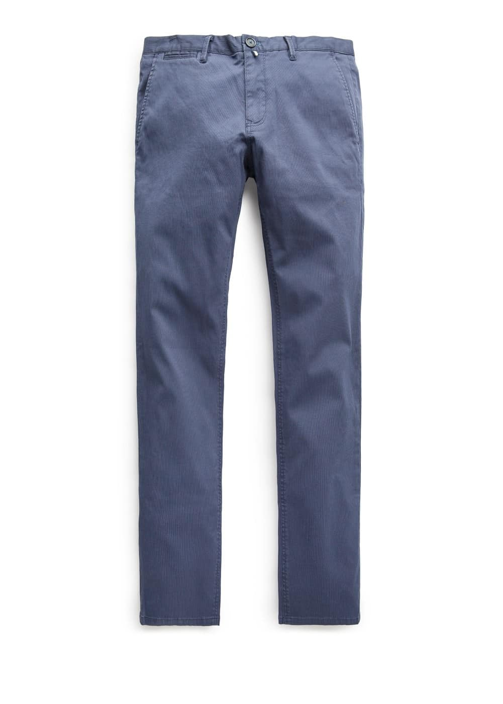Slim-fit textured chinos | MANGO MAN