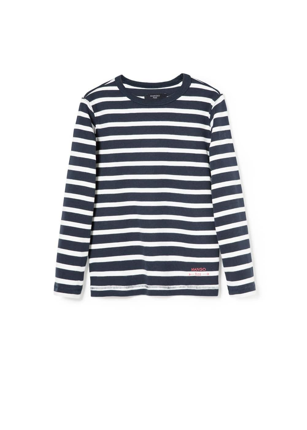 Striped cotton t-shirt | MANGO KIDS
