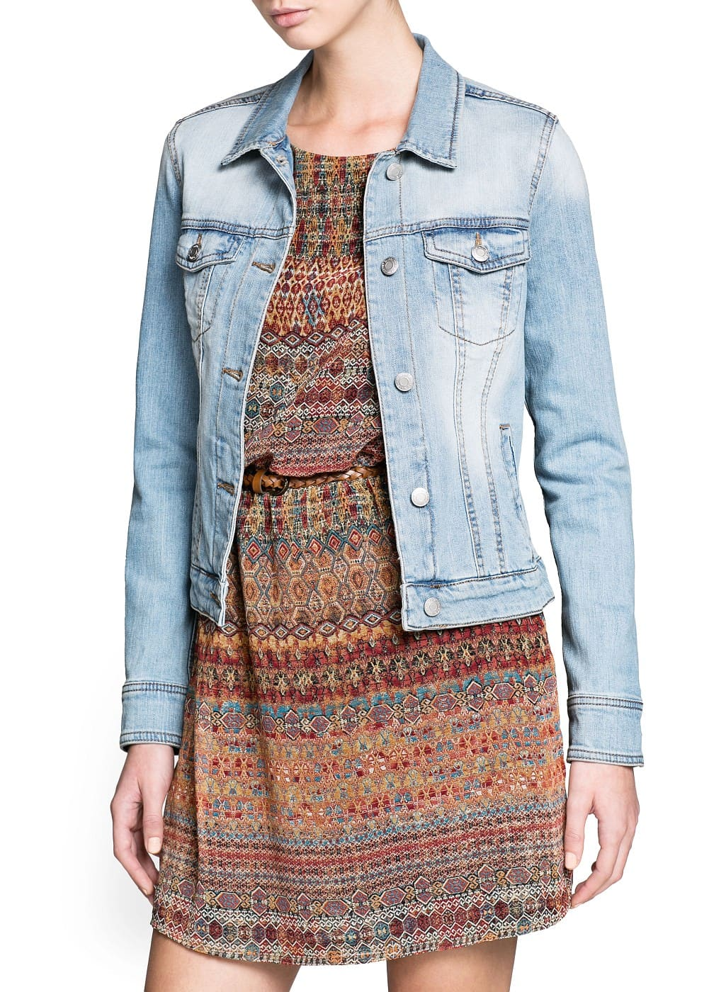 Light wash denim jacket | MANGO
