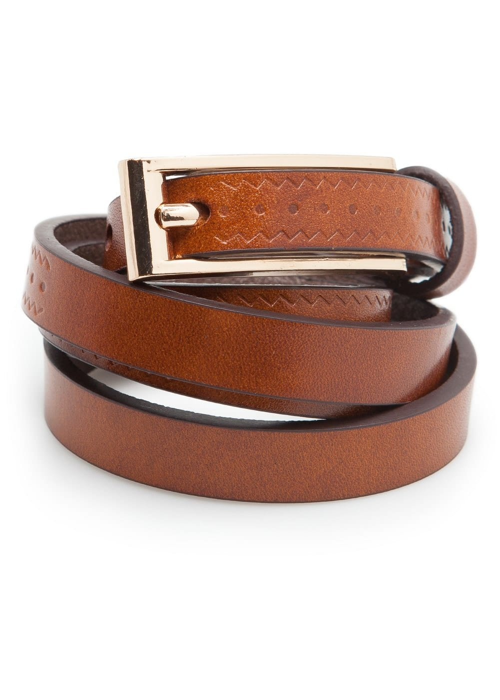 Embossed leather belt | VIOLETA BY MANGO