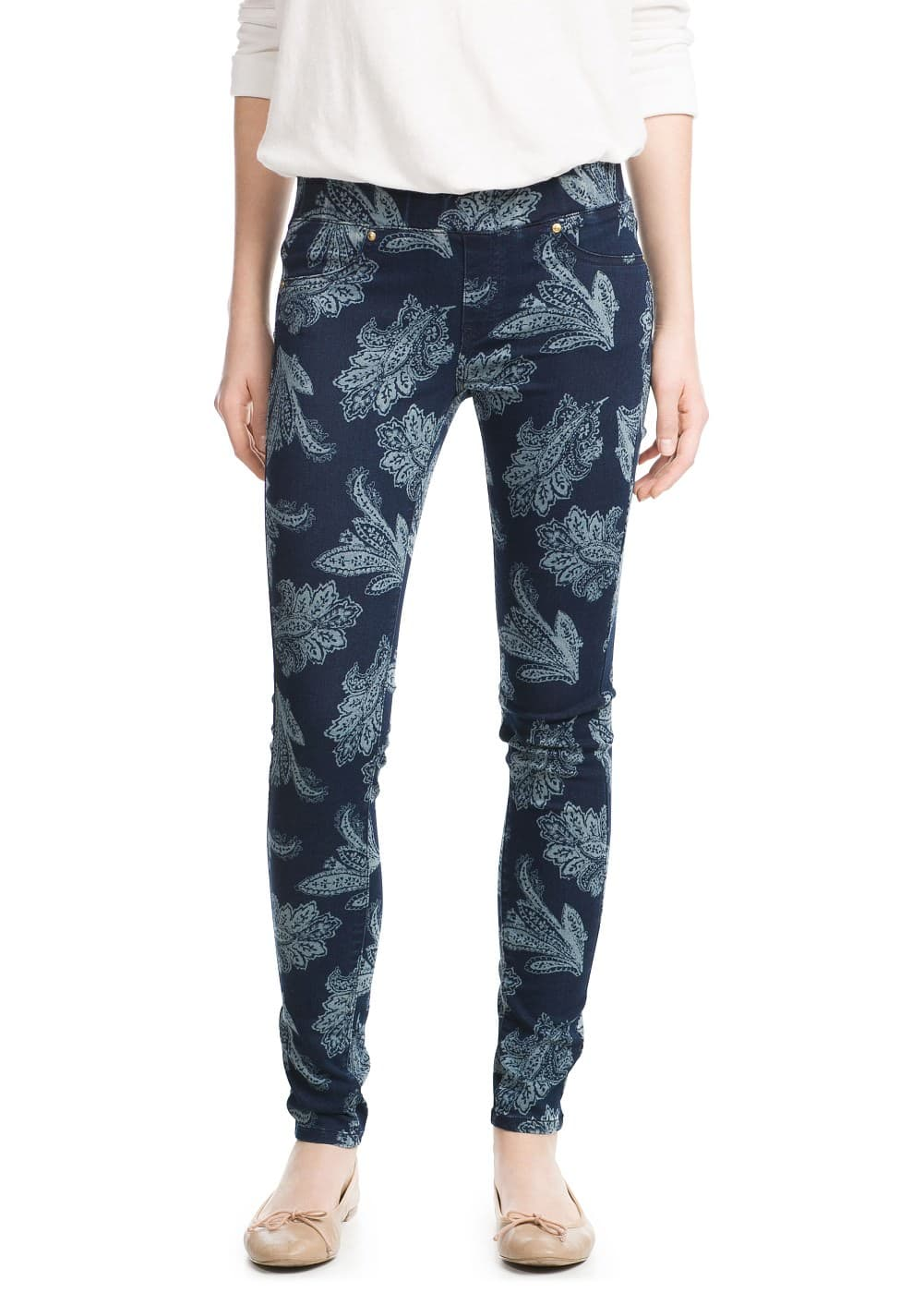 Printed jeggings | MANGO