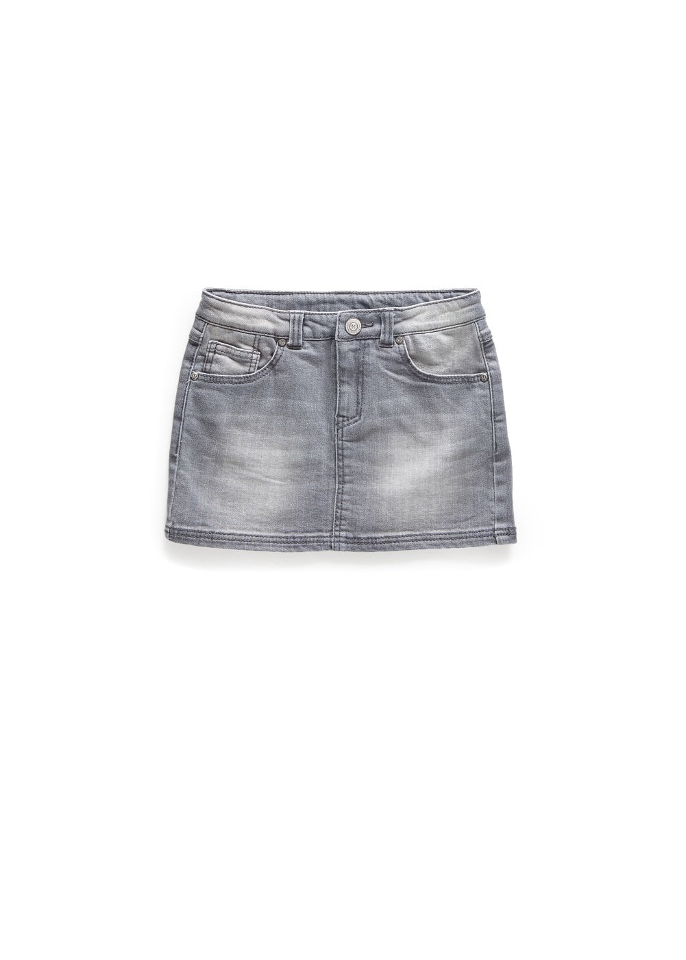 Grey denim skirt | MANGO KIDS