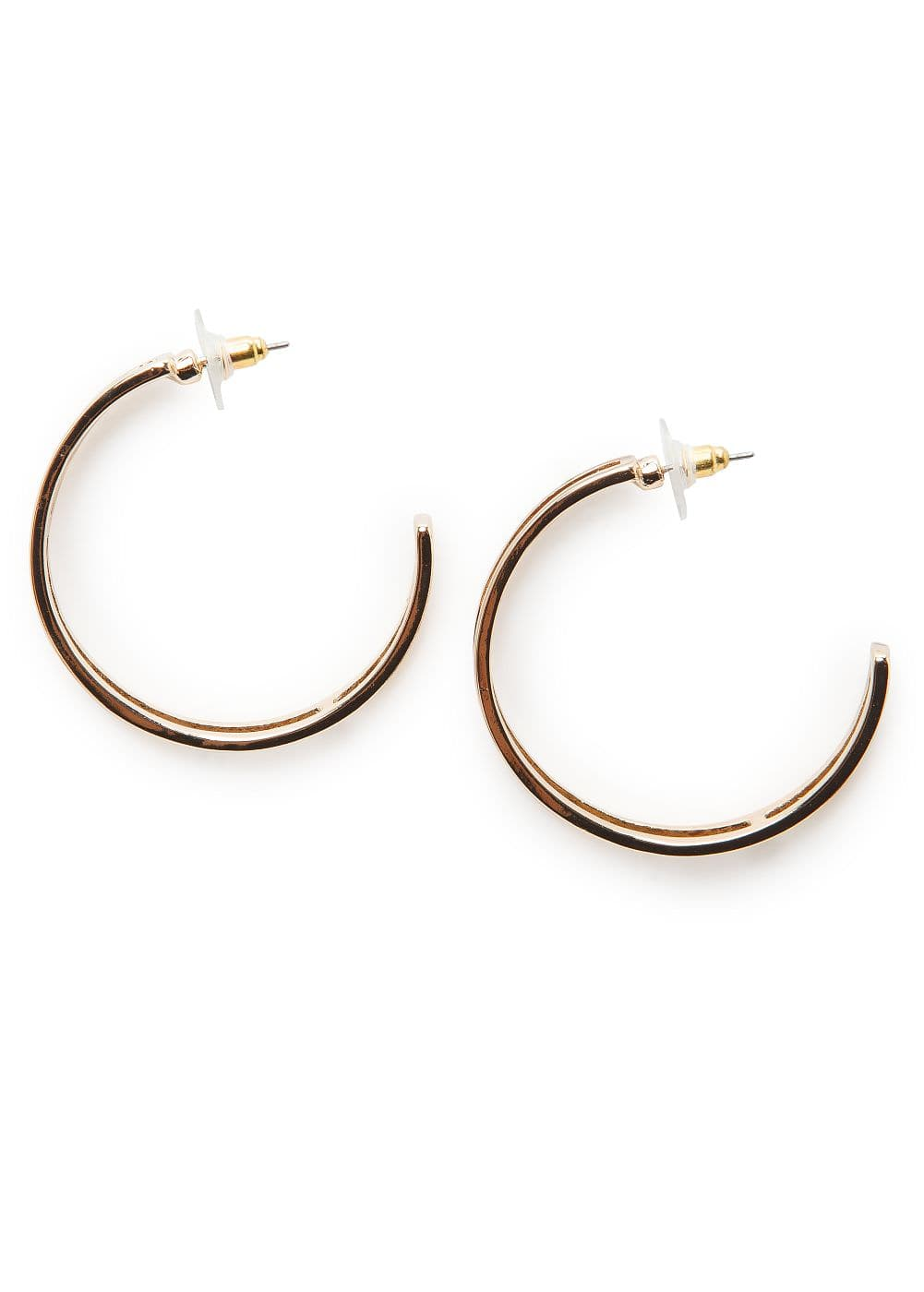 Double hoop earrings | MANGO