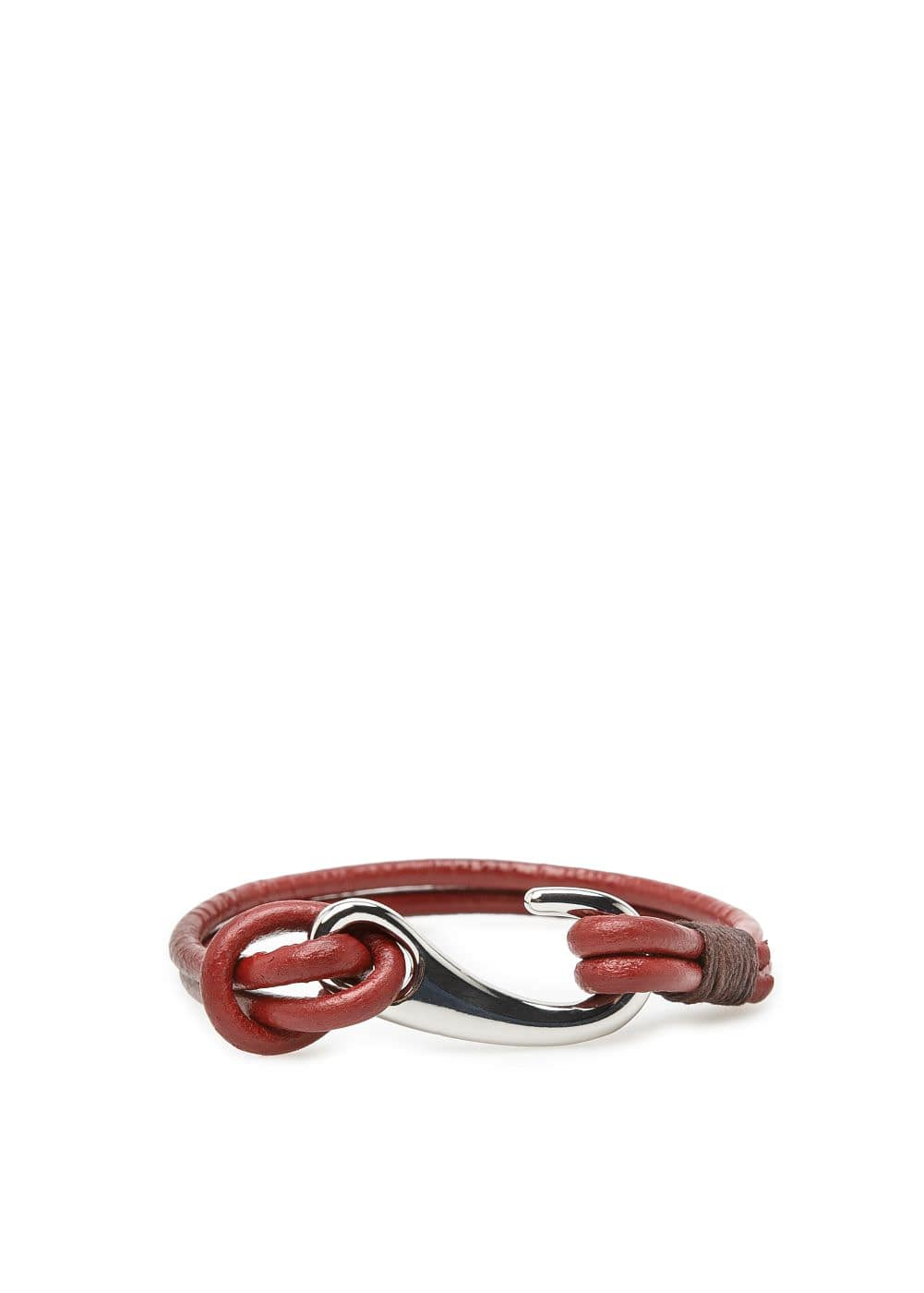 Hook leather bracelet | MANGO