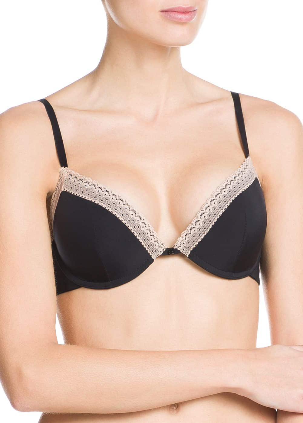 Reggiseno push-up bordo | MANGO MAN