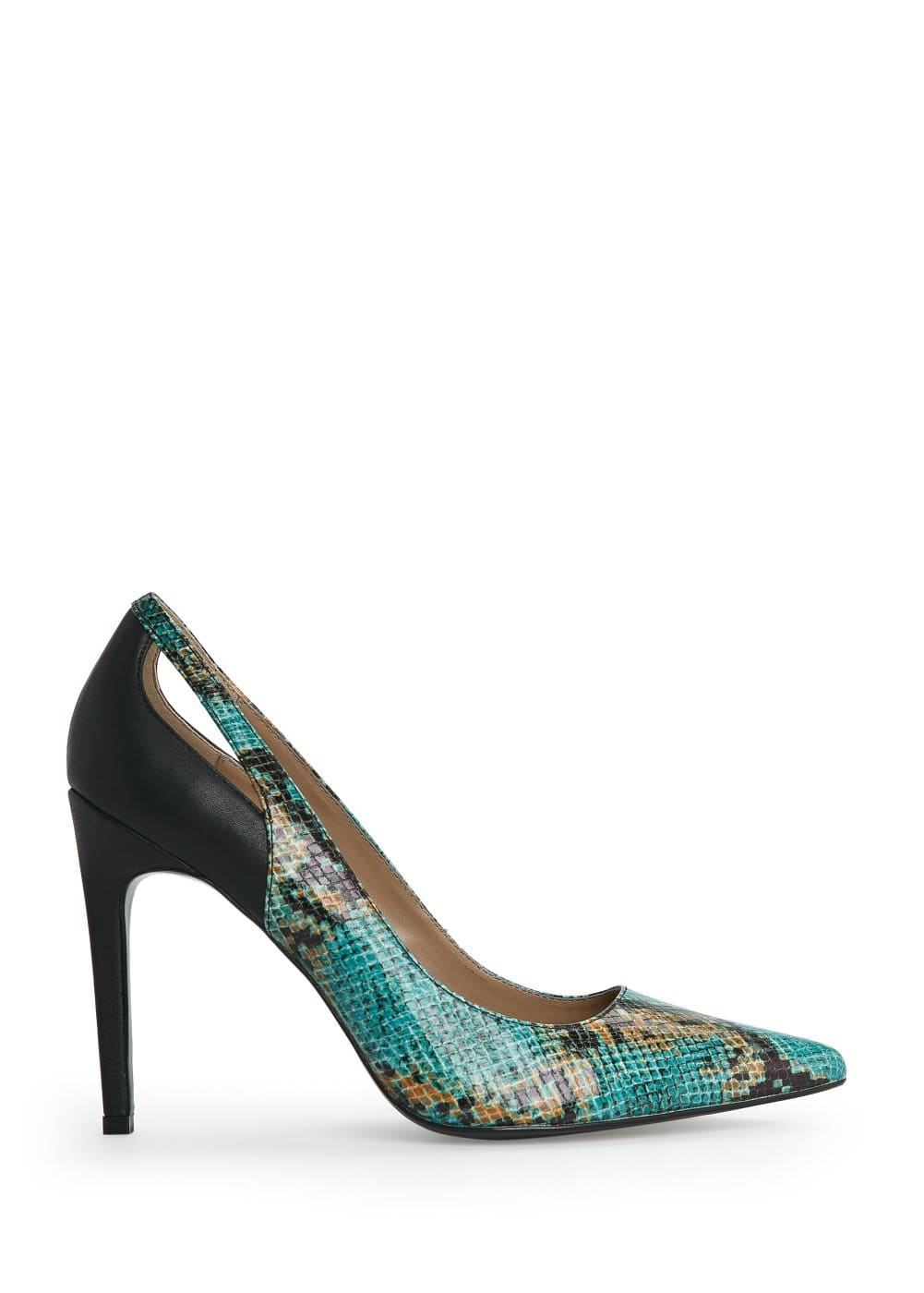 Snakeskin effect stiletto shoes | MANGO