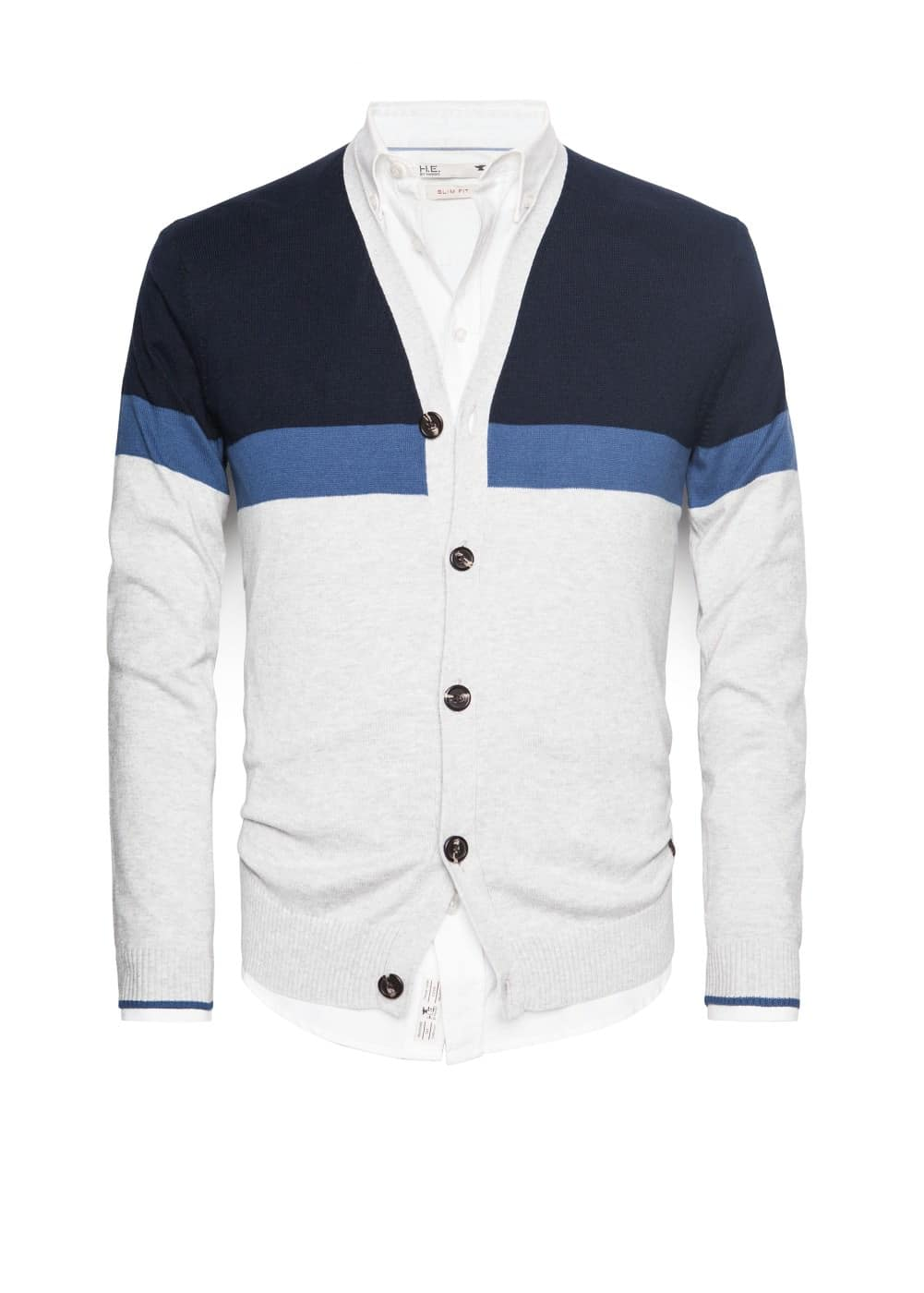 Color block cotton cardigan | MANGO