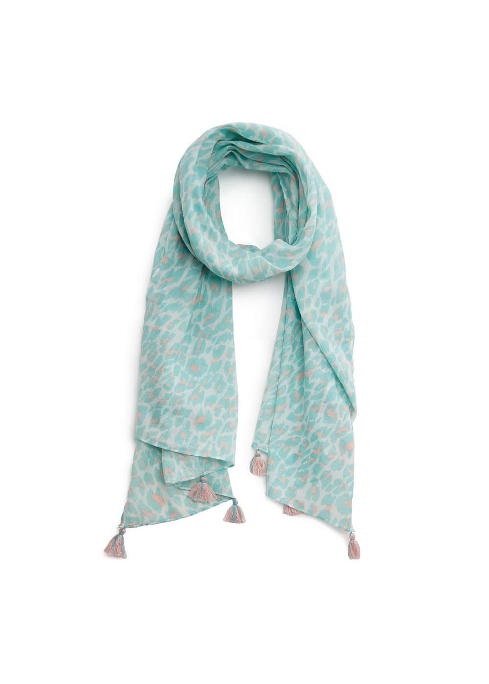 Animal print tassel scarf | MANGO KIDS