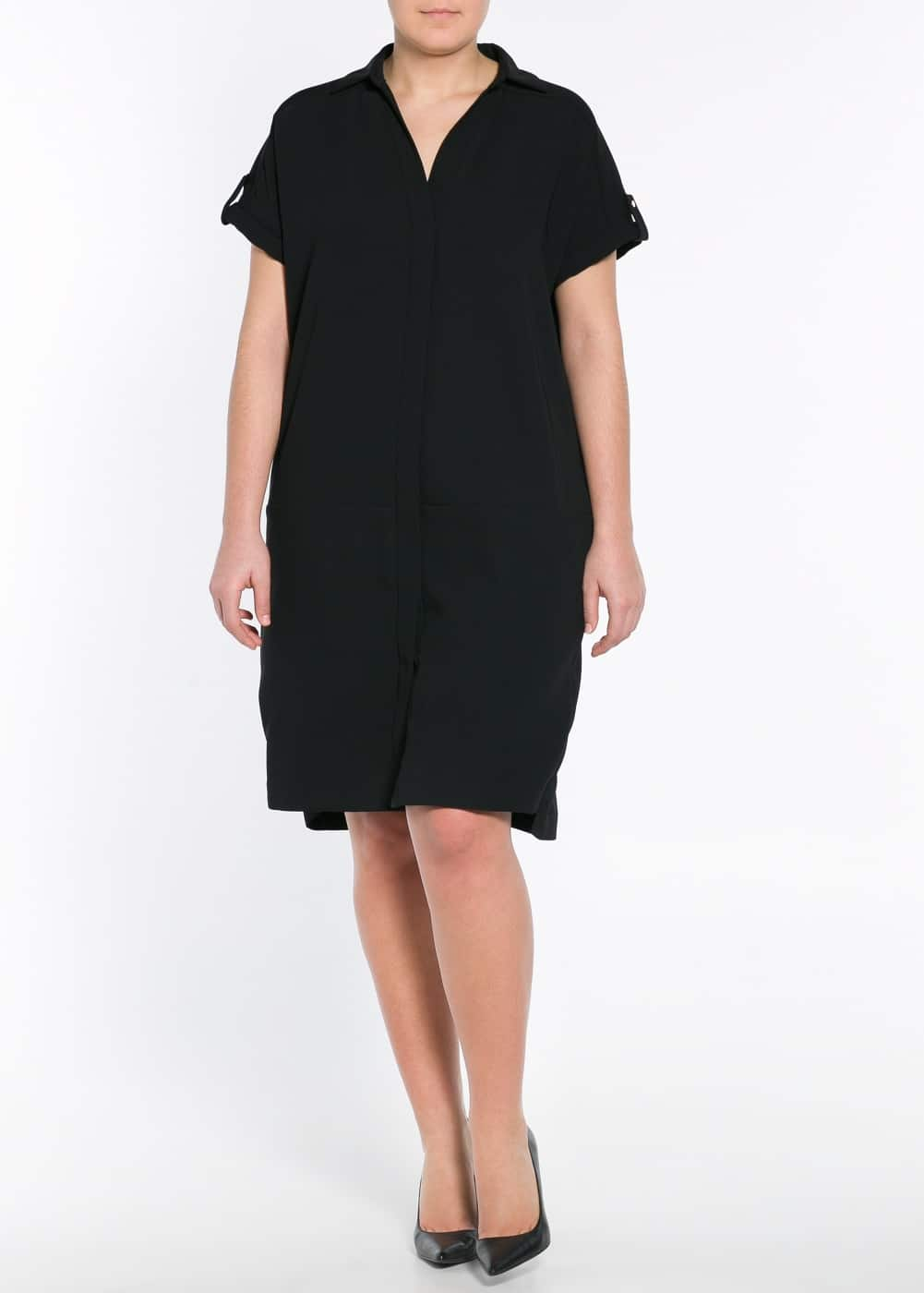 Crepe shirt dress | MANGO