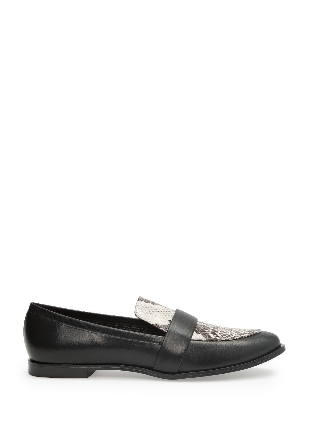 Snake print leather loafers | MANGO