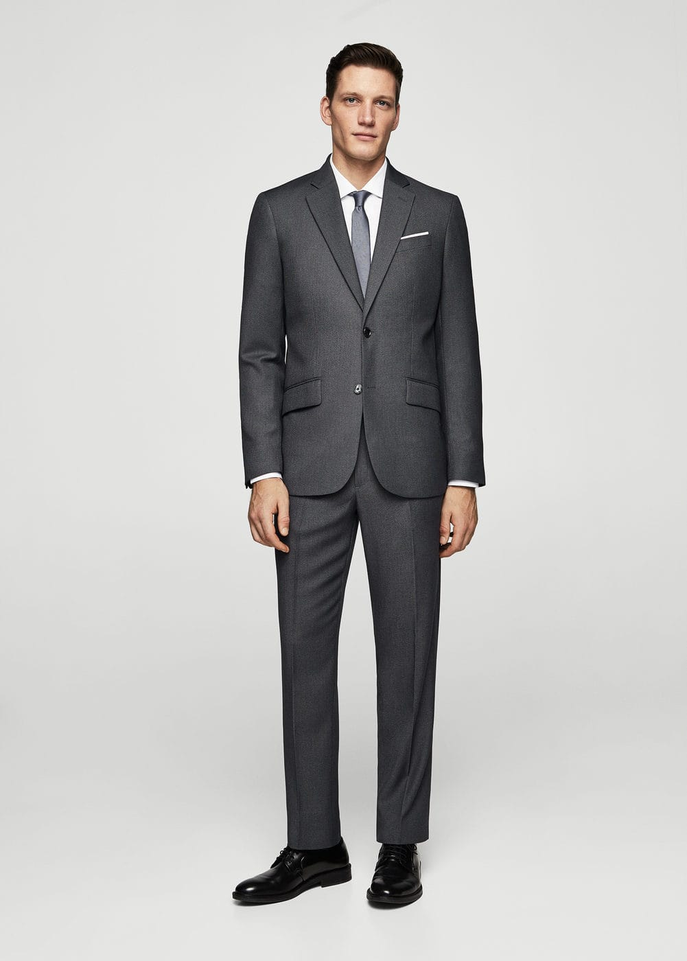 Regular-fit patterned suit trousers  | MANGO MAN
