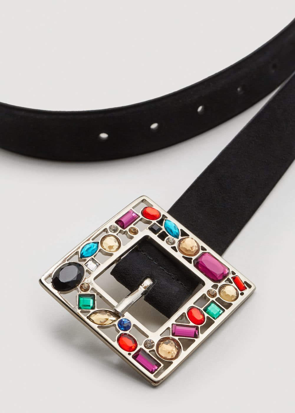 Leather crystal belt | MANGO