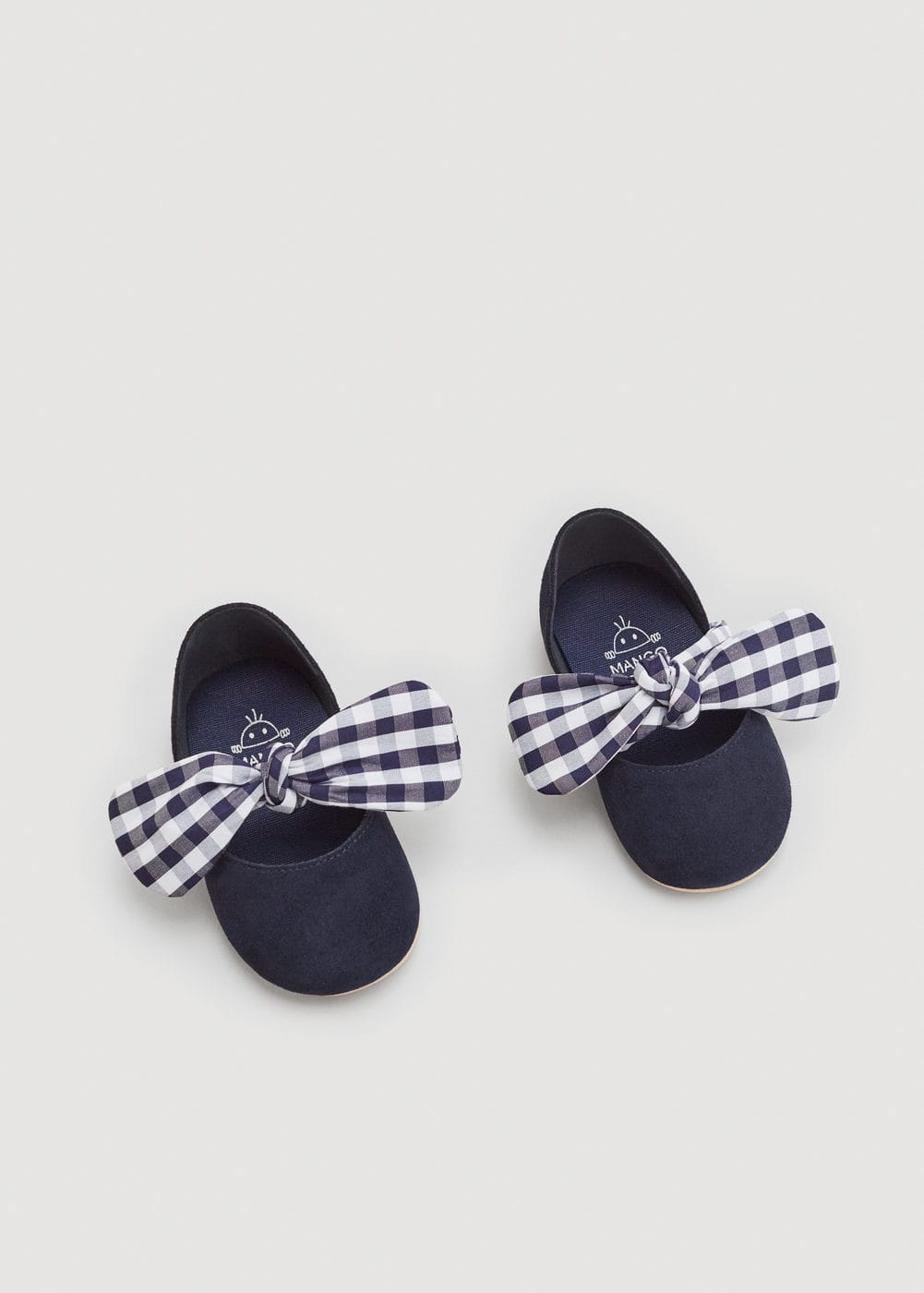 Bow suede shoes | MANGO
