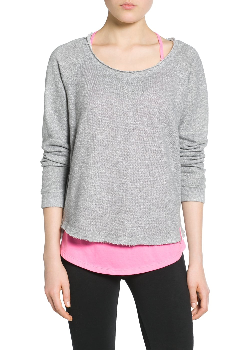 Yoga - relaxed plush sweatshirt | MANGO