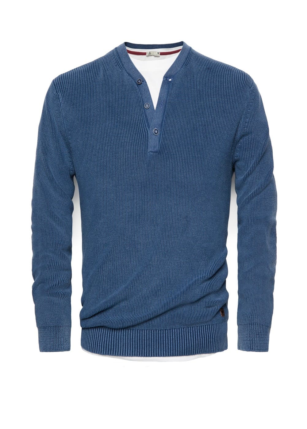 Cotton henley sweater | MANGO MAN