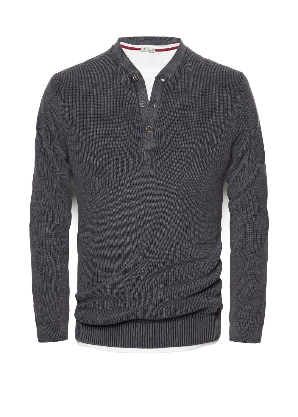 Pull-over coton col boutonné | MANGO MAN