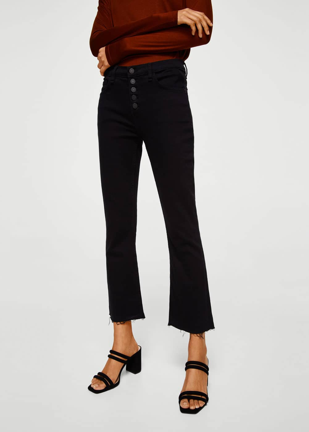 Flared trumpet jeans | MANGO