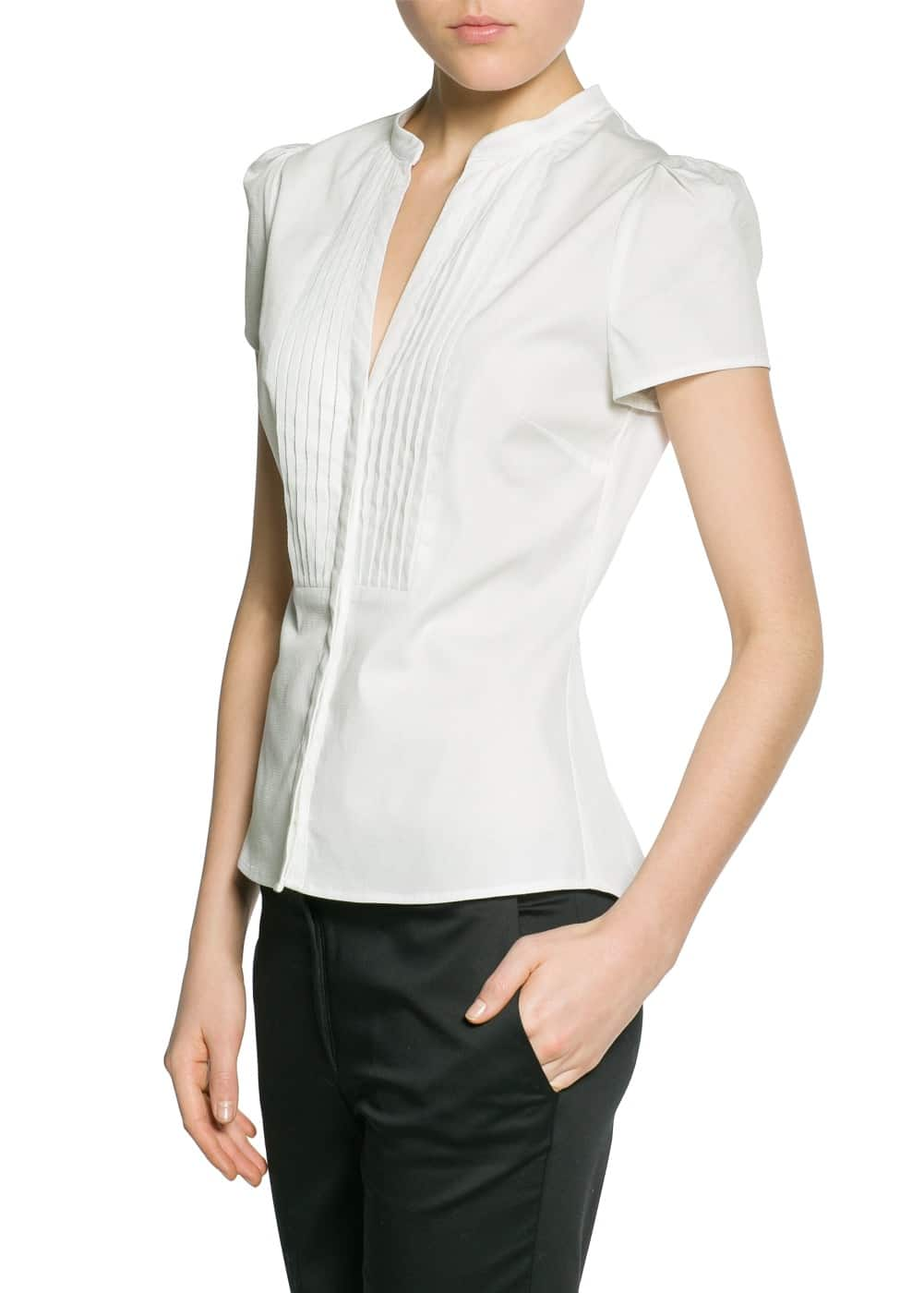 Tailored cotton shirt | MANGO