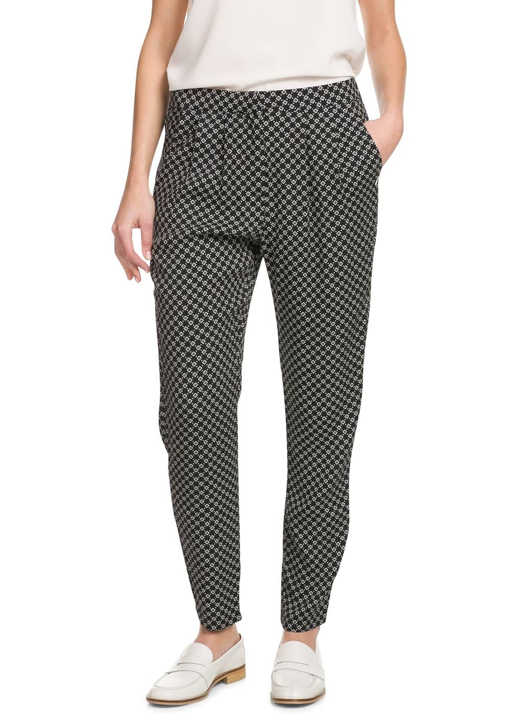 Printed baggy trousers | MANGO
