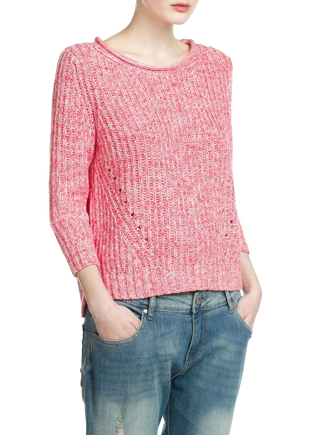 Openwork detail sweater | MANGO