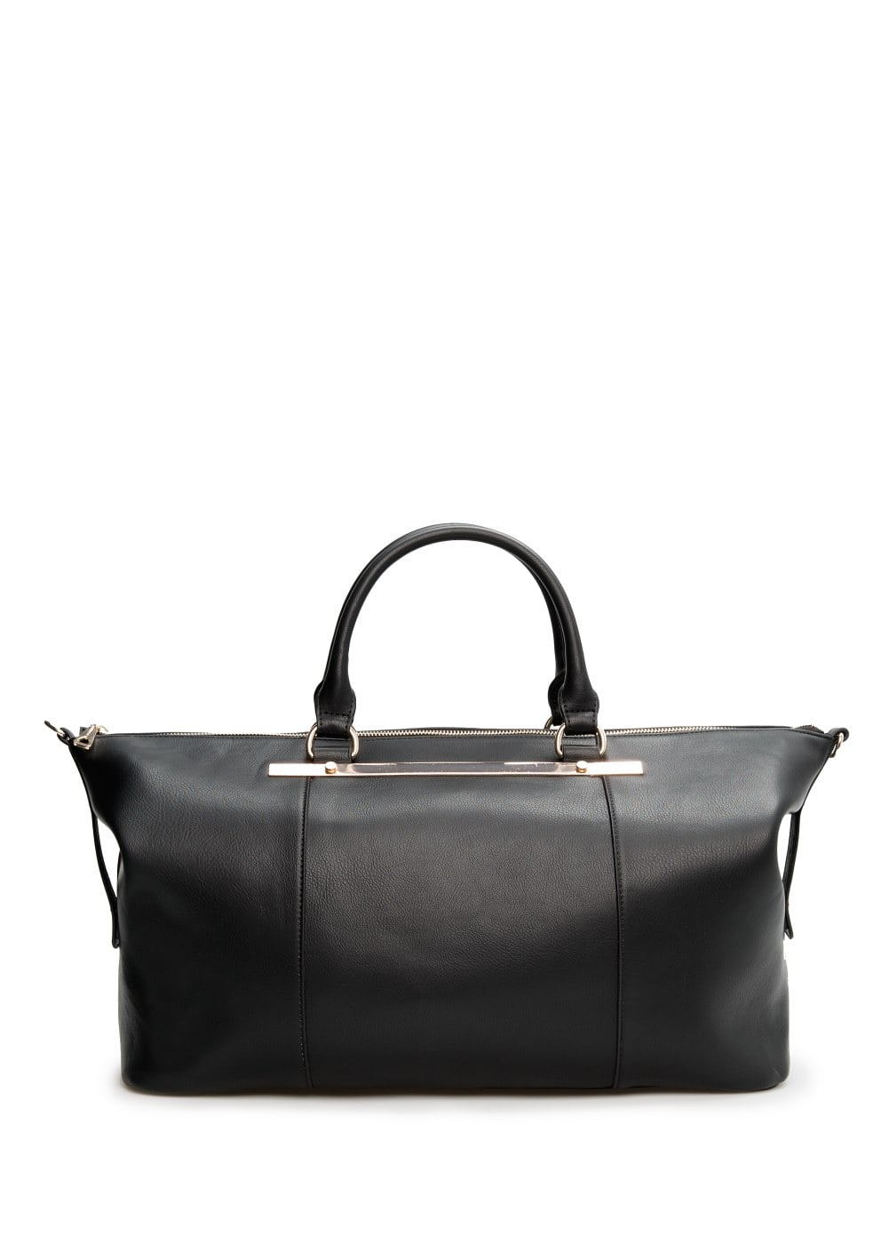 Bolso shopper placa | MANGO