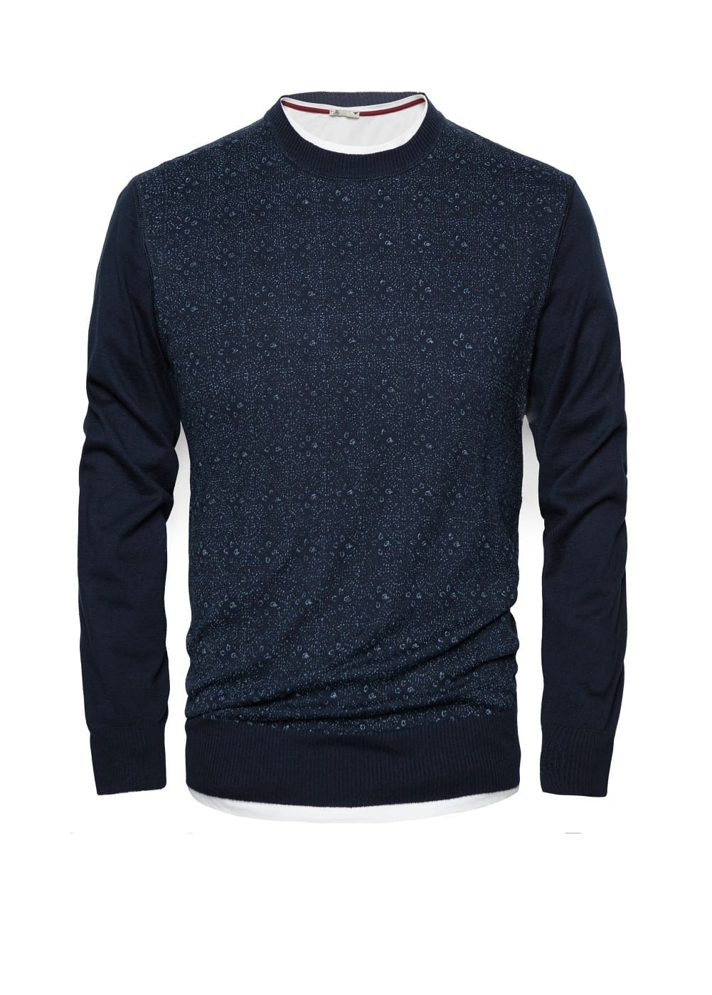 Printed cotton sweater | MANGO MAN