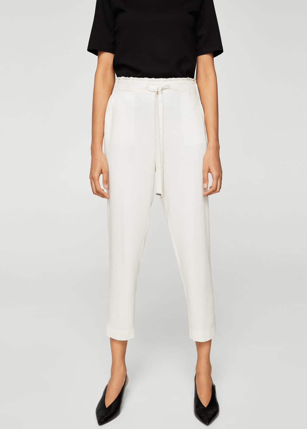 Drawstring flowy trousers | MNG