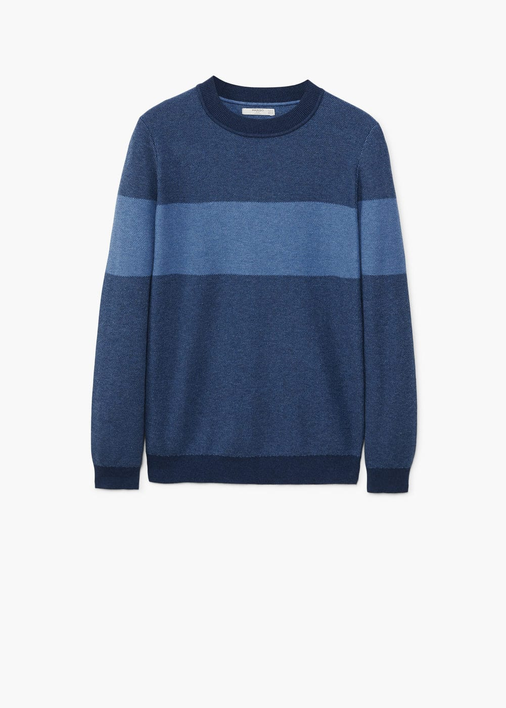 Contrasting stripe knitted sweater | MANGO MAN