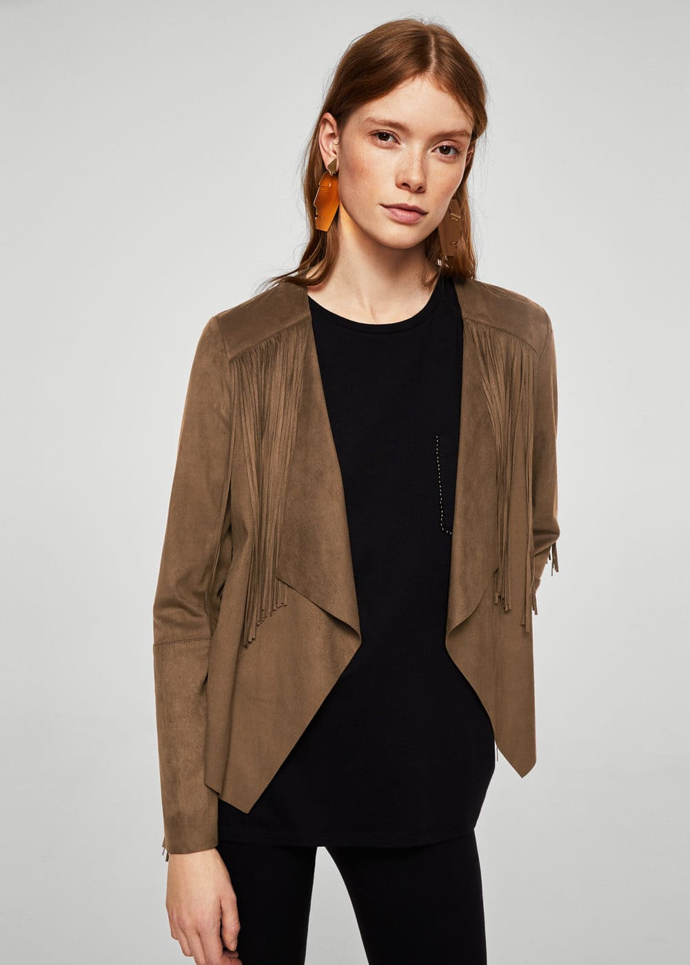 Fringed jacket | MANGO