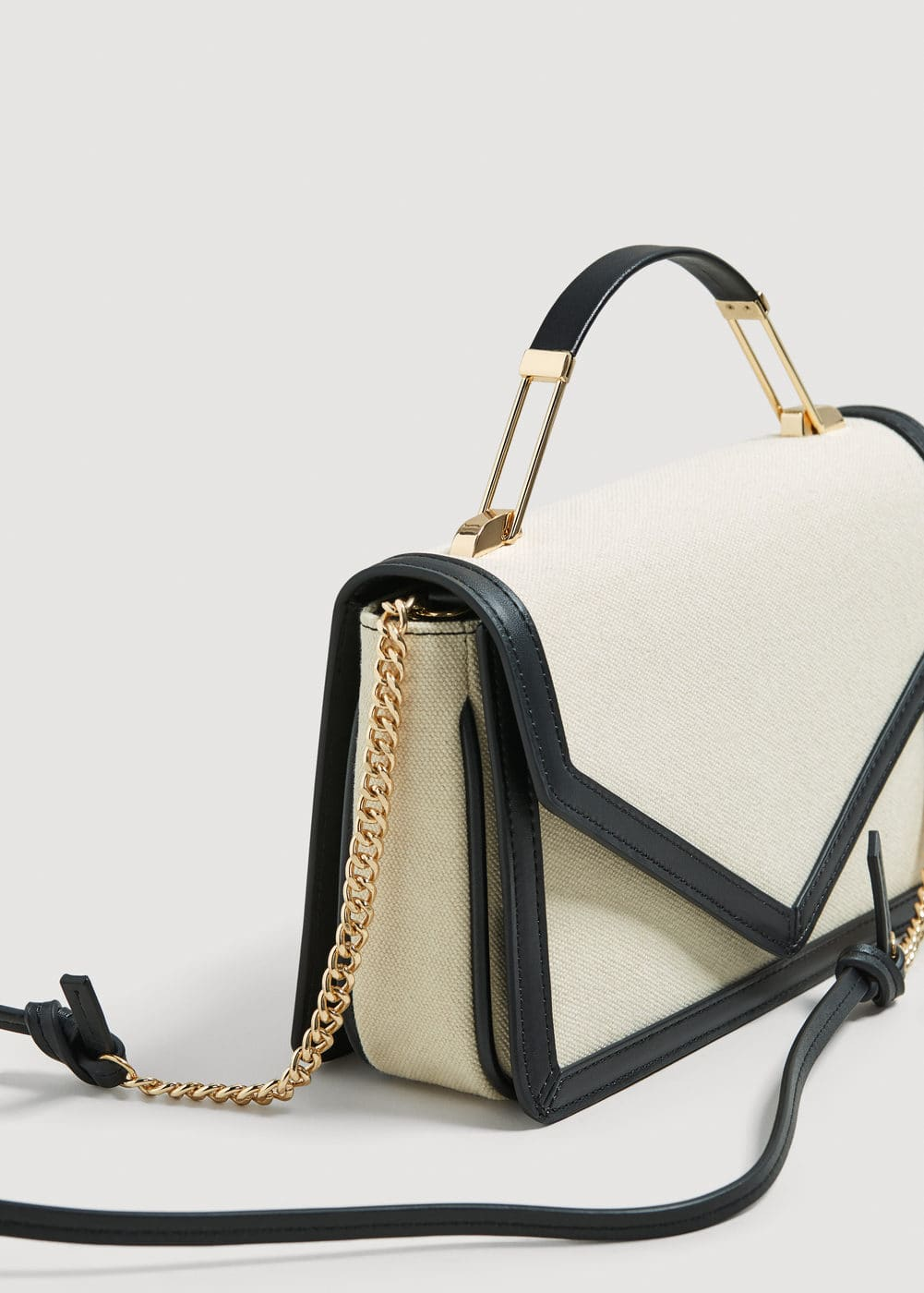 Contrast trim bag | MANGO