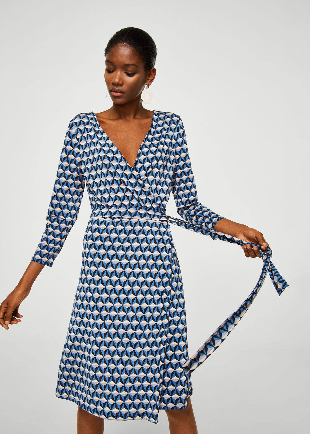 Geometric print dress | MANGO