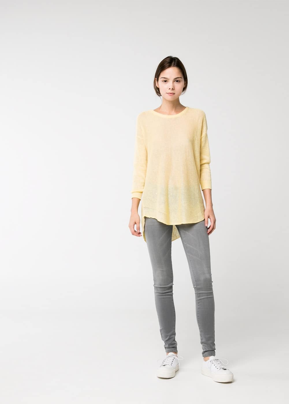Pull-over lin | MANGO
