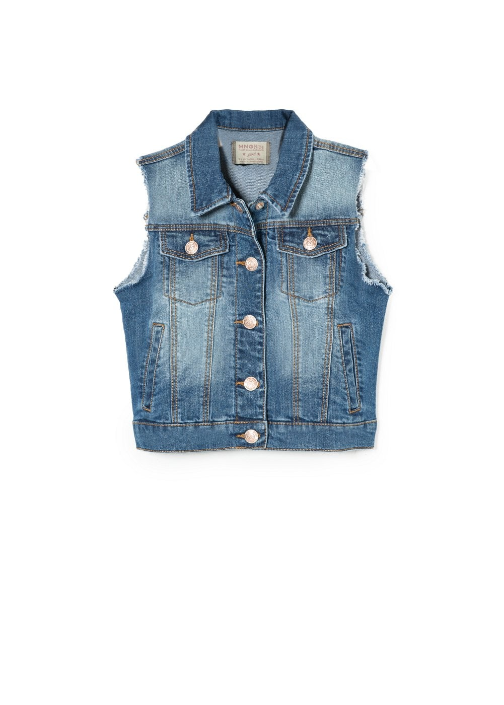 Medium denim vest | MANGO KIDS