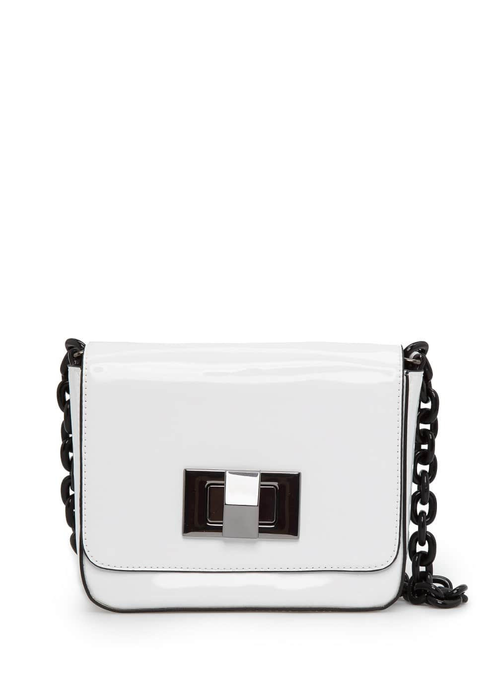 Patent cross body bag | MANGO