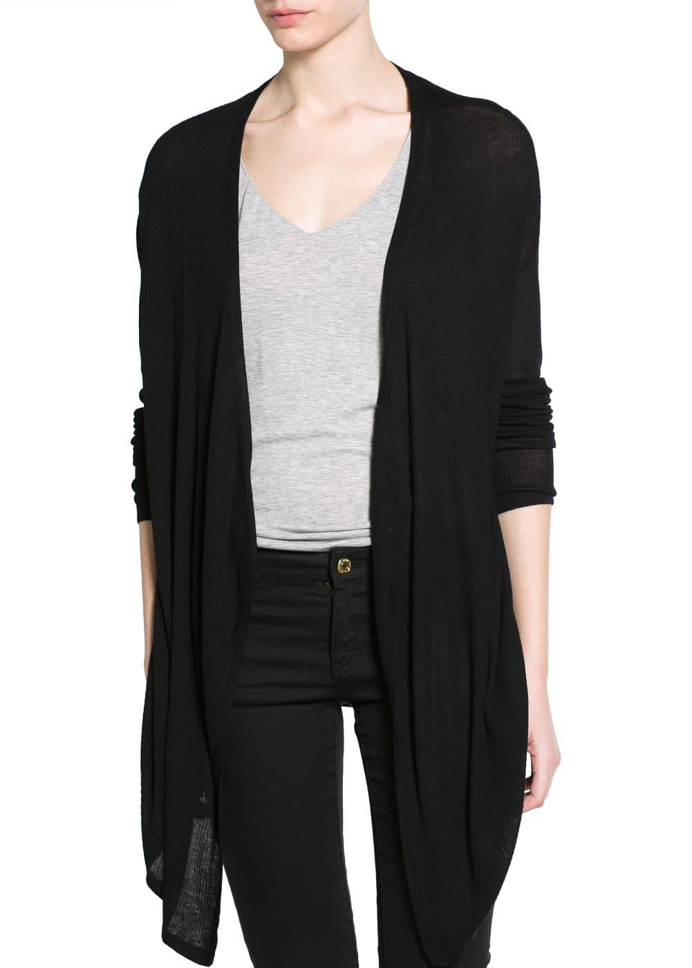 Waterfall long cardigan | MANGO