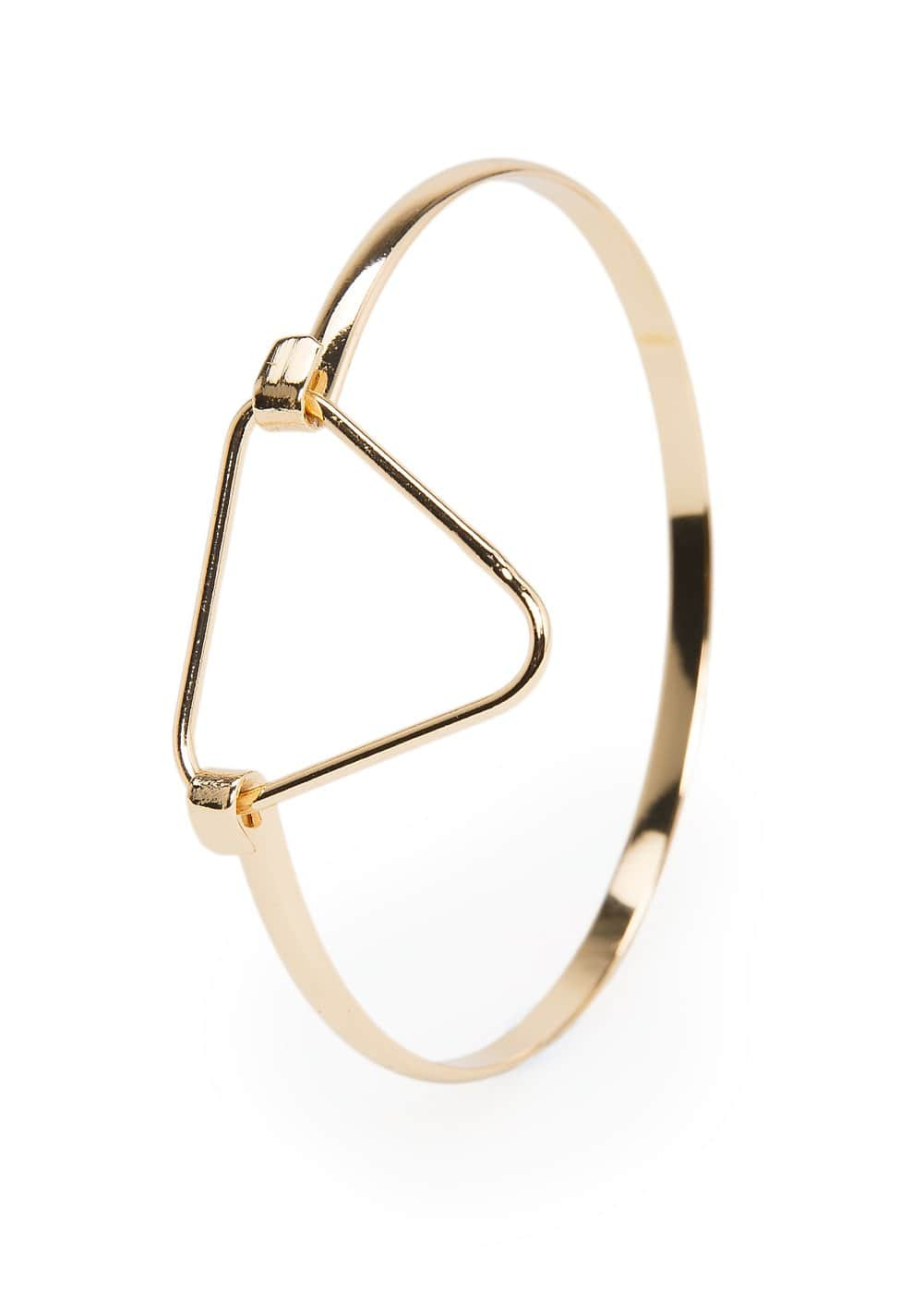Triangle metal bracelet | MANGO