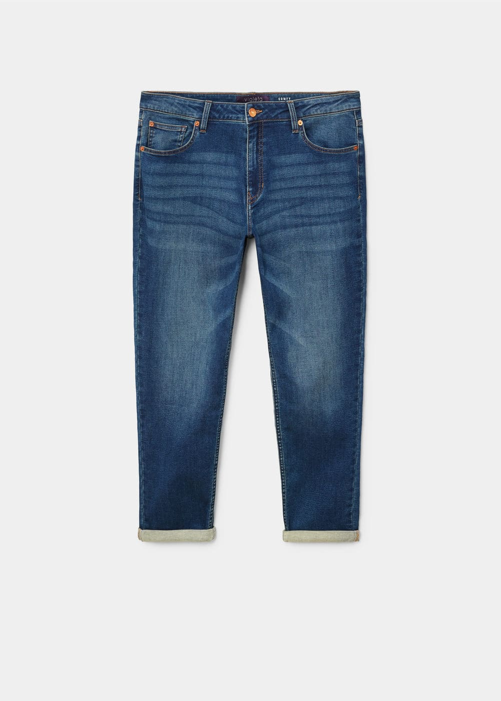 Comfy relaxed jeans   VIOLETA BY MANGO