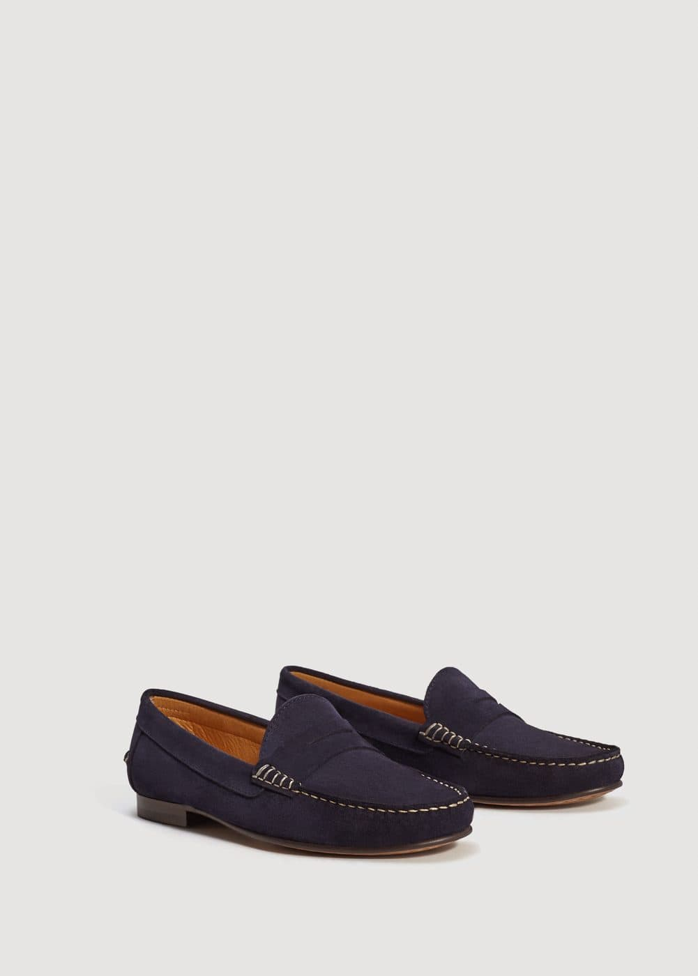 Suede loafers | MANGO MAN