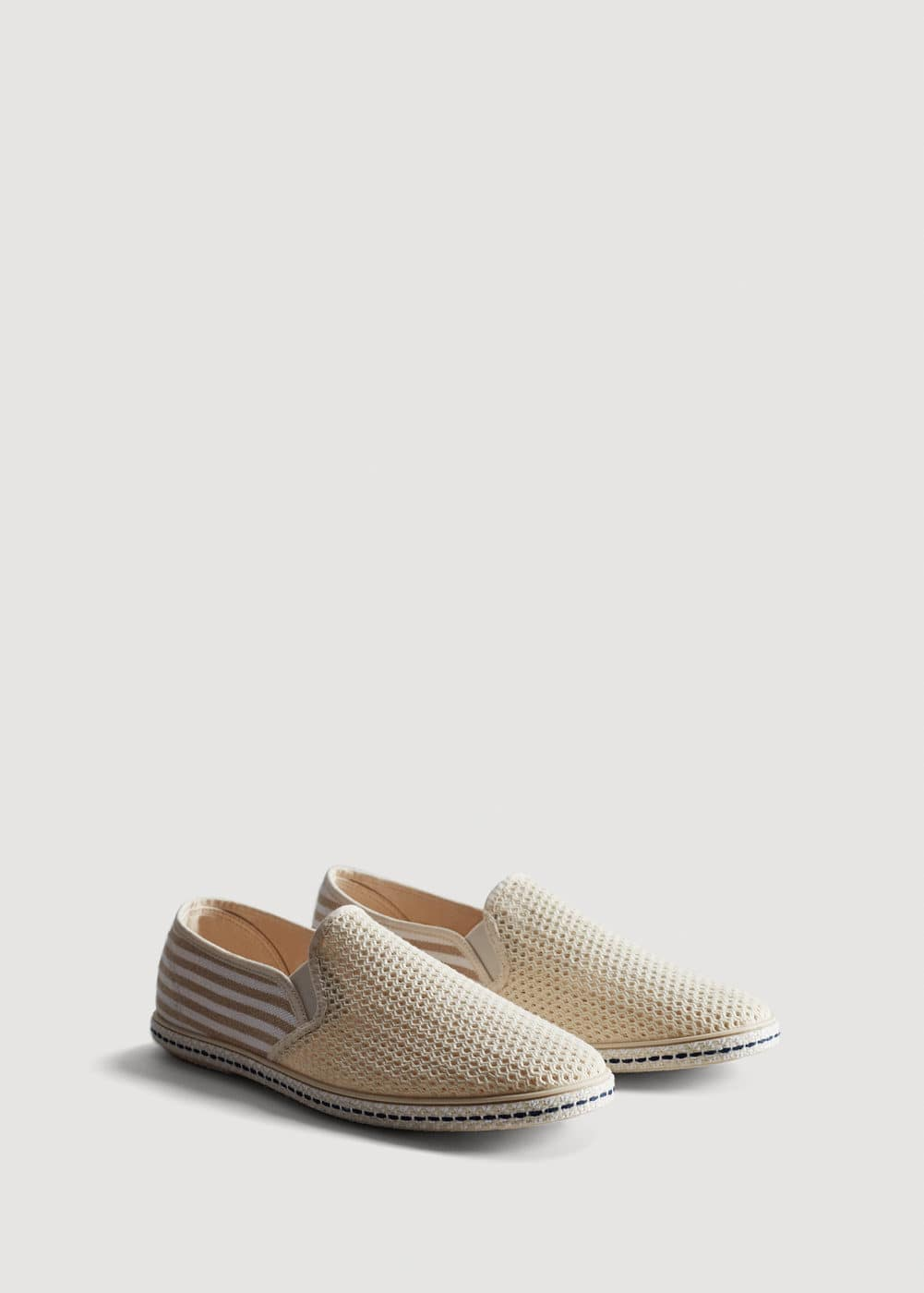 Striped cotton espadrilles | MANGO MAN
