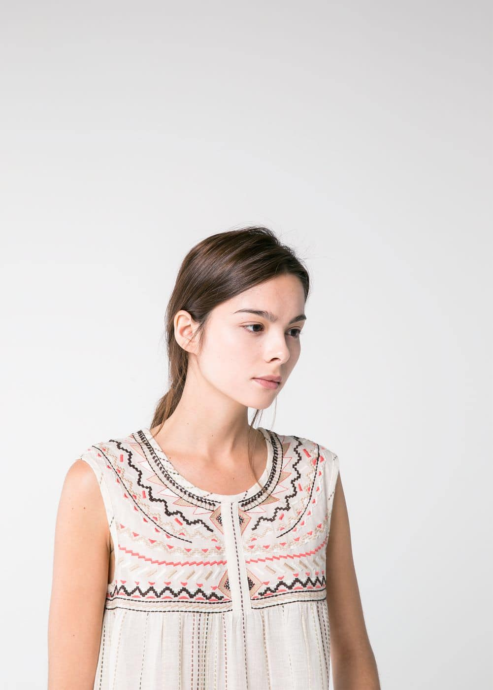 Ethnic embroidered blouse | MANGO