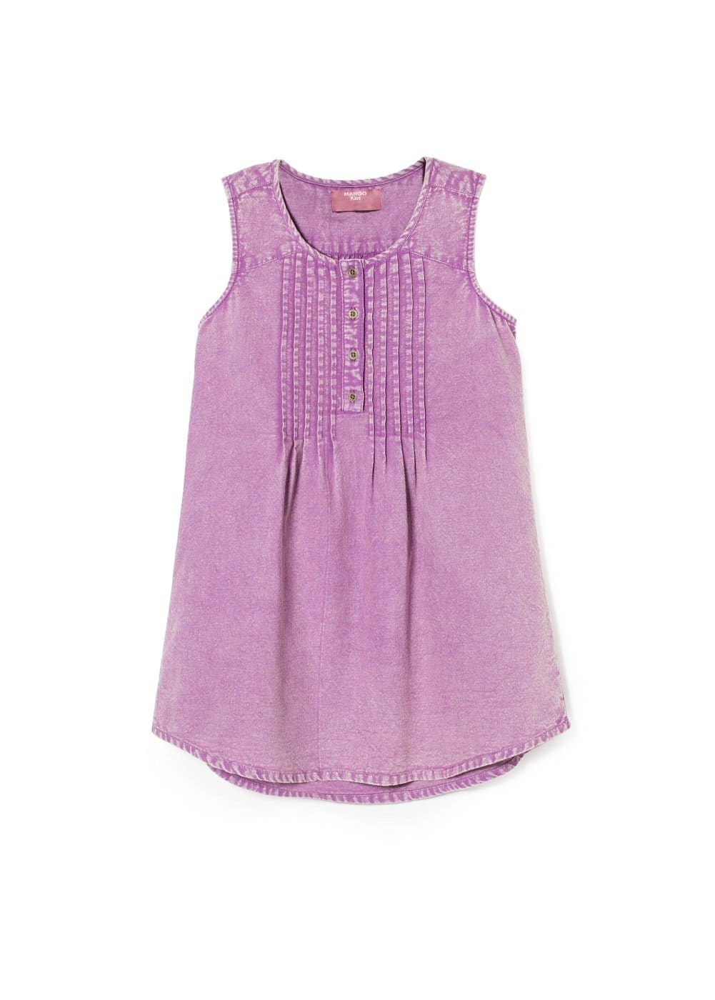 Pleated detail blouse | MANGO KIDS