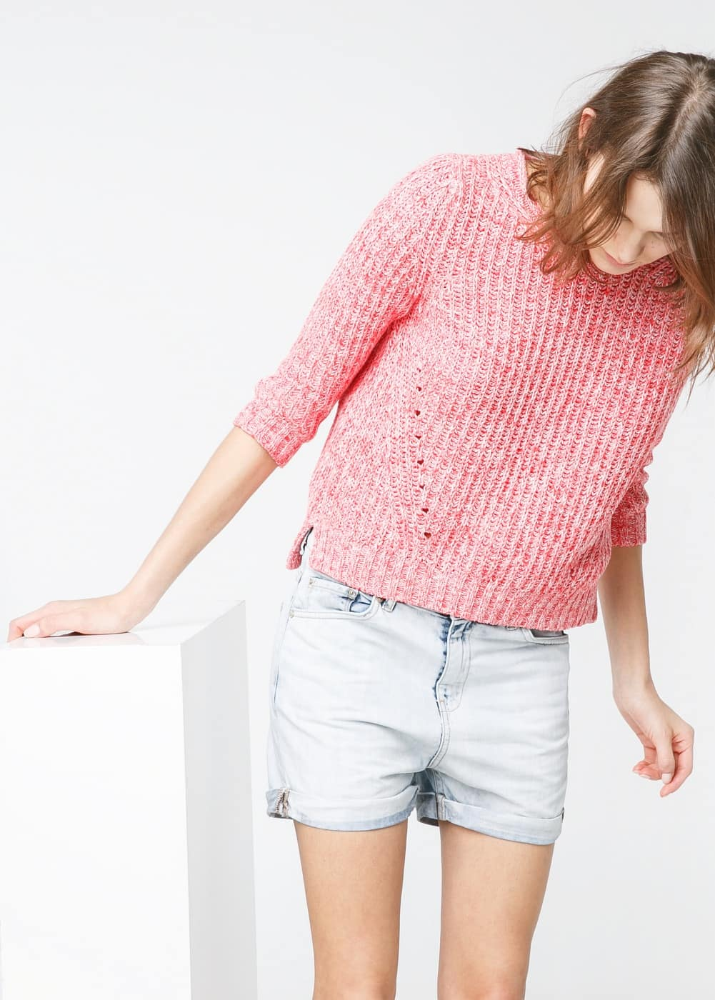 Vintage denim shorts | MANGO
