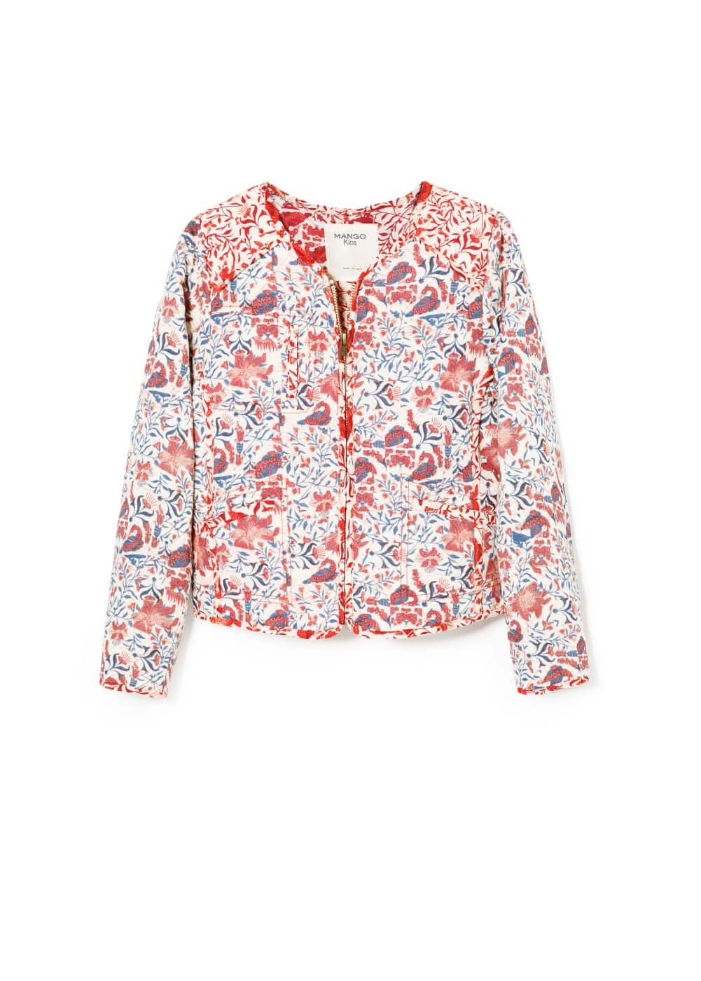 Floral printed jacket | MANGO KIDS