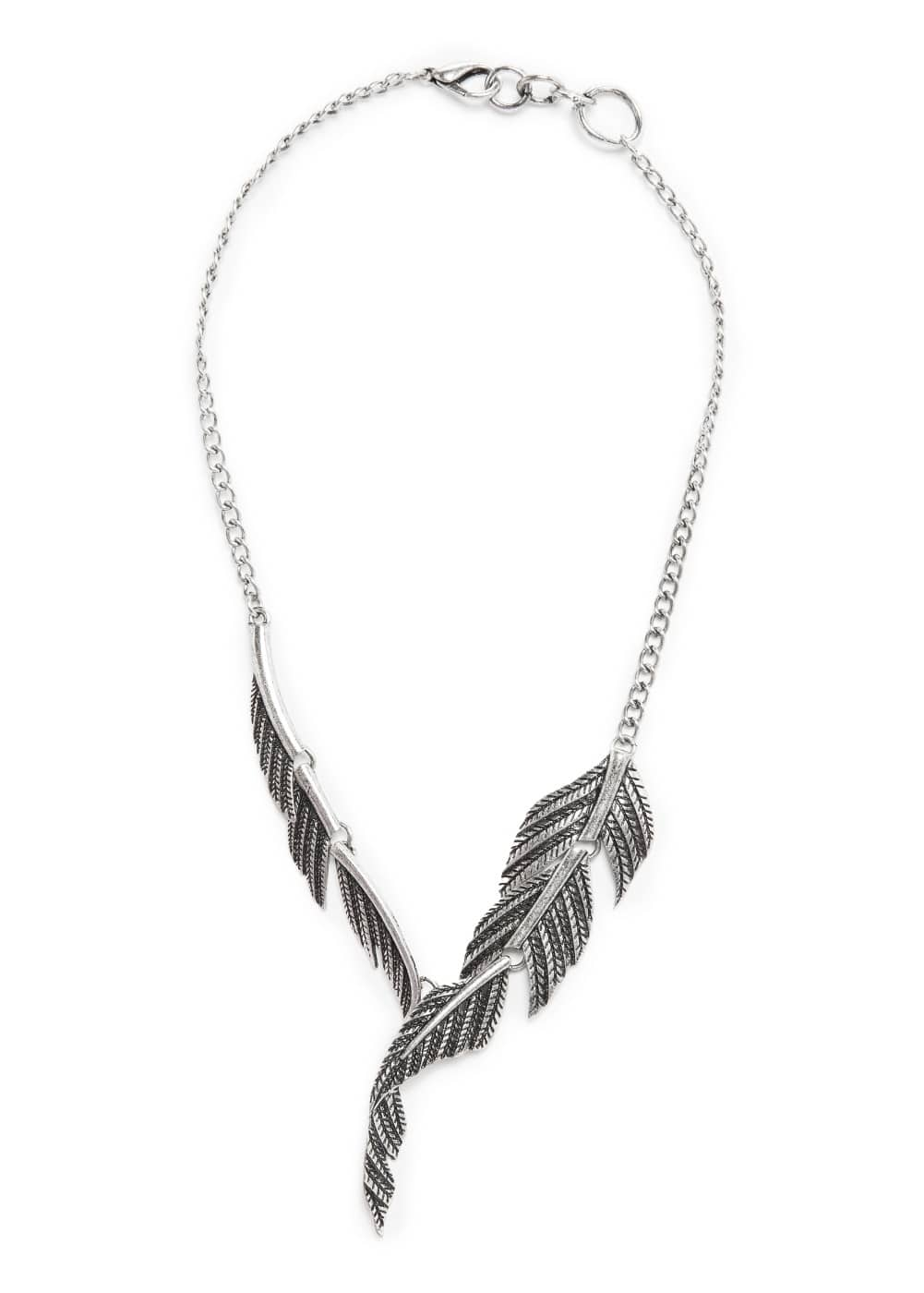 Leaf necklace | MANGO