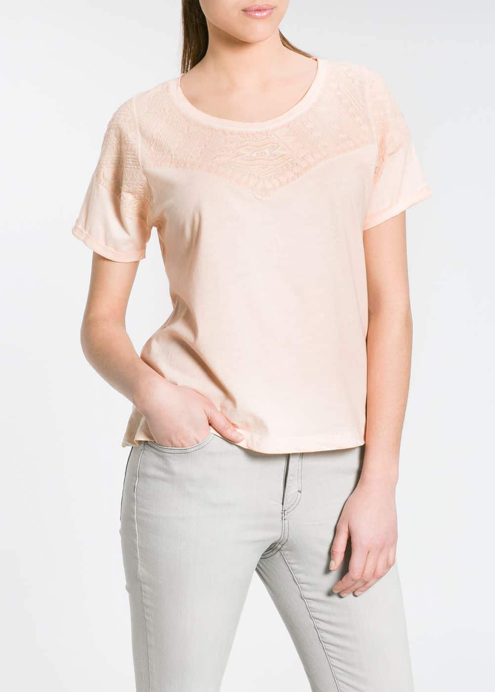 Ethnic embroidery t-shirt | MANGO