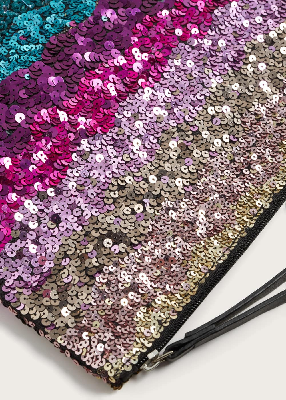 Sequin clutch | VIOLETA BY MANGO
